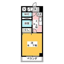 ルミエール青山VI[1階]の間取り