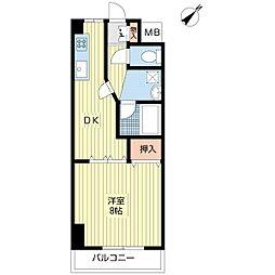 ルーラル八番館[7階]の間取り