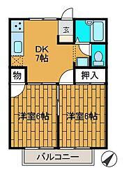 コーポシャトレーナ[2階]の間取り