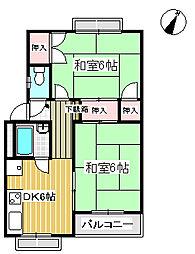 藤マンション[01010号室]の間取り