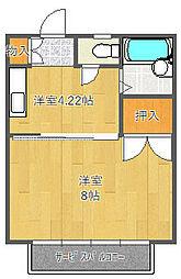 ミヤコ津雲台マンション[42B号室]の間取り