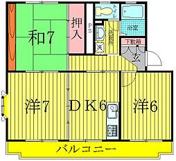 PRINCIPAL VILLAGE東館[2階]の間取り