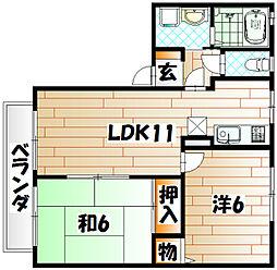 ピュアハイツSERITA[2階]の間取り