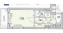 シンシア西大井[4階]の間取り