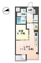 タイニーヴィラ 3階1LDKの間取り