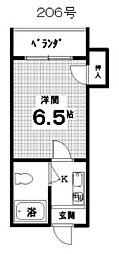 アポローズマンション2階Fの間取り画像