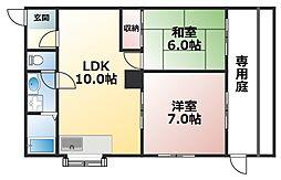 リーフプラス赤坂[1階]の間取り