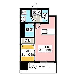 イクシオン博多[7階]の間取り