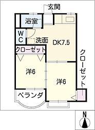 第1マンション丹羽[3階]の間取り