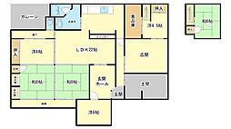 [一戸建] 兵庫県姫路市西中島 の賃貸【兵庫県 / 姫路市】の間取り
