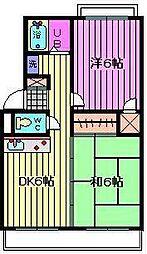 横田ハイツ[301号室]の間取り