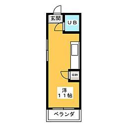 幸川マンション南館[3階]の間取り