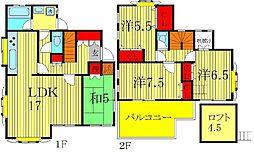 [一戸建] 千葉県柏市名戸ヶ谷1丁目 の賃貸【/】の間取り