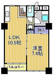千鳥橋団地2号棟[2階]の間取り