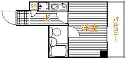 東京都豊島区西巣鴨2丁目の賃貸マンションの間取り