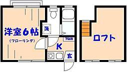 千葉県市川市新田1の賃貸アパートの間取り