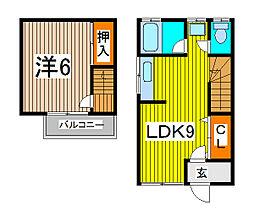 [テラスハウス] 埼玉県さいたま市桜区中島1丁目 の賃貸【埼玉県 / さいたま市桜区】の間取り