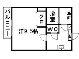 静岡県浜松市南区渡瀬町の賃貸アパートの間取り