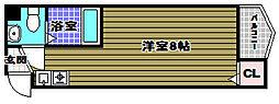 大阪府河内長野市木戸3丁目の賃貸マンションの間取り