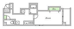Osaka Metro谷町線 文の里駅 徒歩2分の賃貸マンション 3階1Kの間取り