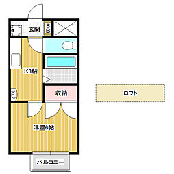 ハイツAlba A[3階]の間取り