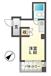 ビラカレッジ6[3階]の間取り