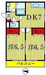 カーサ・ファミール[3階]の間取り