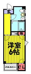 埼玉県草加市高砂2丁目の賃貸マンションの間取り