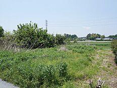 小美玉市羽鳥の現地土地写真です。