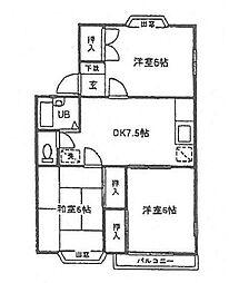 シャトル湘南B棟[1階]の間取り