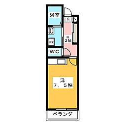 SABLONマンション 3階ワンルームの間取り