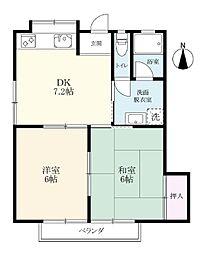 原田アパート[104号室]の間取り