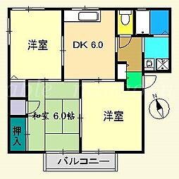 ハートハイツ[1階]の間取り