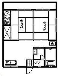 落合アパート[12号室]の間取り