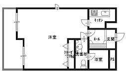 サングラン千代崎[7階]の間取り