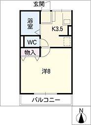 Annex平和ヶ丘I[1階]の間取り