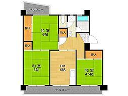 UR中山五月台住宅[1-401号室]の間取り