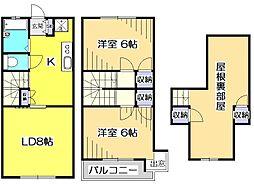 [テラスハウス] 東京都府中市栄町1丁目 の賃貸【/】の間取り