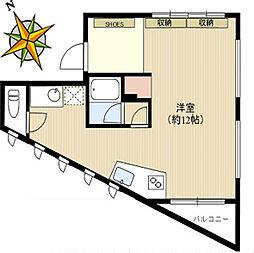 小石川ベース[2F号室]の間取り