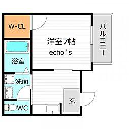 プチ・セードル[1階]の間取り