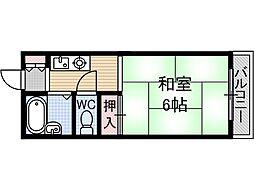 シャロームB棟[2階]の間取り