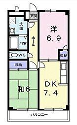 東京都西東京市田無町5丁目の賃貸マンションの間取り