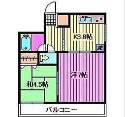 ベルズマンション[2階]の間取り