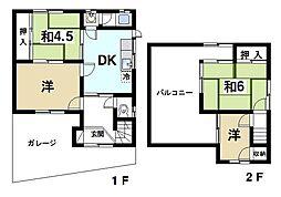 [一戸建] 奈良県生駒市桜ケ丘 の賃貸【/】の間取り