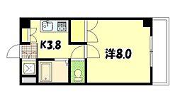 ハーシオンフルタIII[4階]の間取り