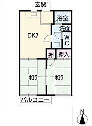 ボナール松井[1階]の間取り