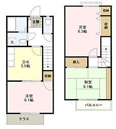 [タウンハウス] 東京都八王子市片倉町 の賃貸【/】の間取り