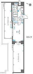 都営大江戸線 飯田橋駅 徒歩9分の賃貸マンション 5階1Kの間取り