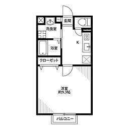 アムール Kamidai[102号室]の間取り