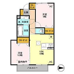 (仮)D-room高井町[102号室]の間取り